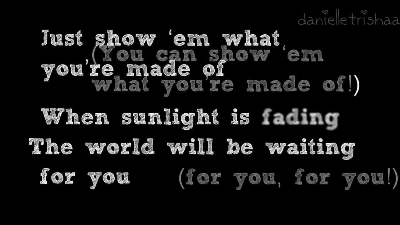 Backstreet lyrics