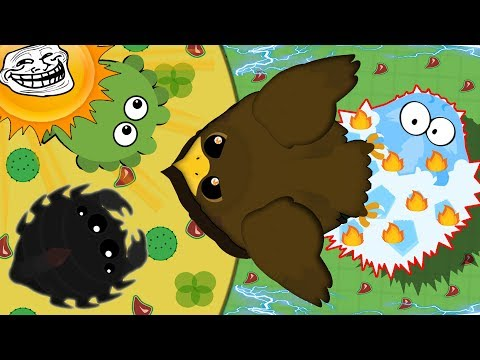 Mope.io RARE GOLDEN EAGLE DRAGS ANIMALS INTO DESERT! New Funny Troll in Mope.io