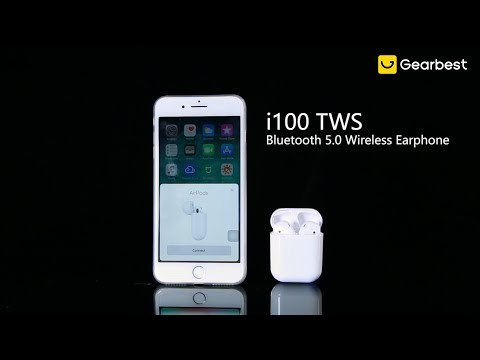 i100 TWS Binaural Bluetooth 5.0 Wireless Earphone - Gearbest.com