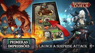 TOP RPG DE CARTAS / Pathfinder Duels / GAMEPLAY ANDROID BR