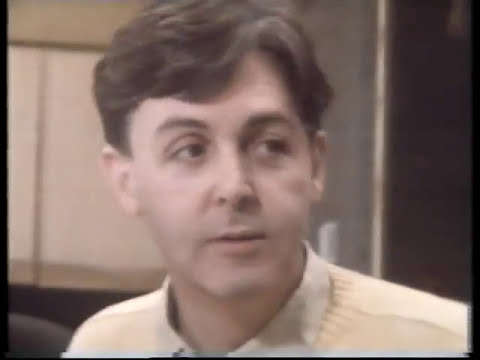 Paul McCartney/ George Martin/ Talk to Russel Harty about the making of Pipes of Peace Xmas 1983