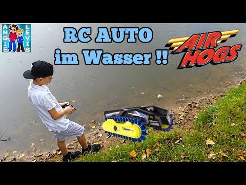 Air Hogs, Thunder Trax, RC AUTO Verwandelt Sich In Ein BOOT !!! Review Deutsch Levis Kinderkanal