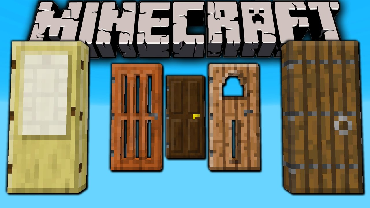 Minecraft 1.8 Snapshot New Doors! Medieval Japanese Modern Slime Block Sound Armor Stand Styles - YouTube  sc 1 st  YouTube : minecraft doors - pezcame.com