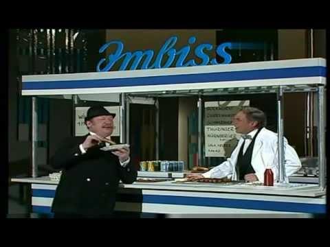 Harald Juhnke & Wolfgang Völz - Currywurst am Imbisstand 1988