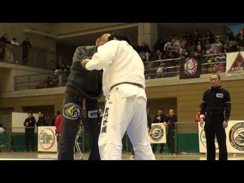 関根〝シュレック〟秀樹vs永田尚道 WPJJC 2014 日本予選 茶帯+100kg級 1回戦