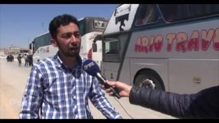 وصول أكثر من 1800 مهجر من حي الوعر إلى مدينة الباب