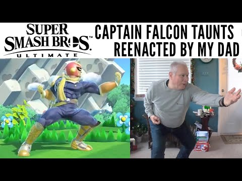 Super Smash Bros. Ultimate: Captain Falcon 'Show Me Your Moves' reenacted by my Dad