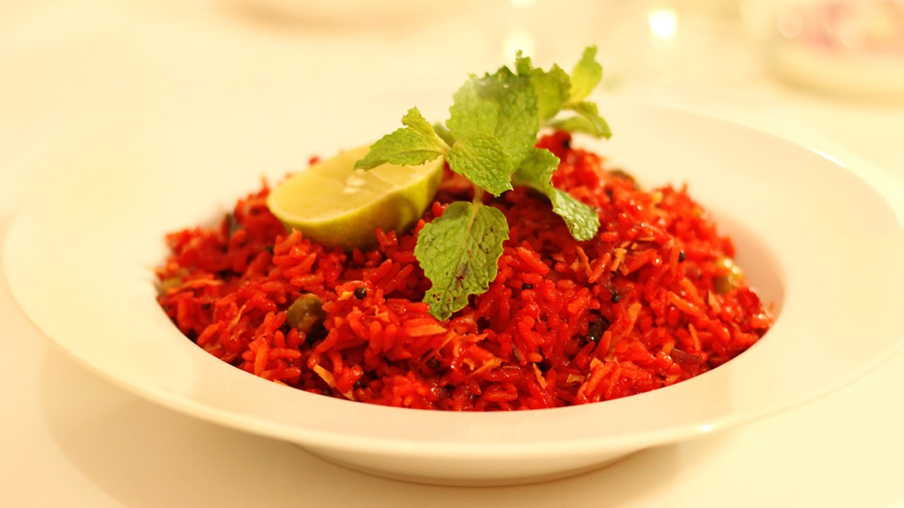 Beetroot Red Rice - Red Pulao - Healthy Vegetarian South Indian ...