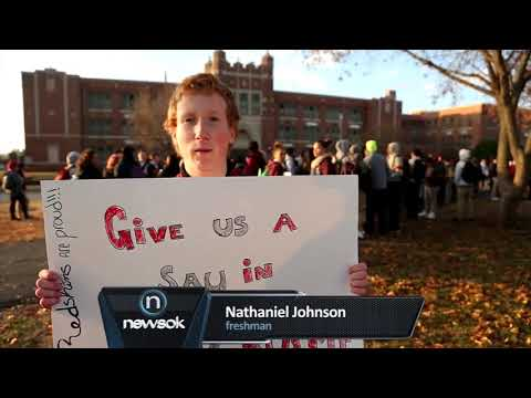 Capitol Hill High School students rally for Redskins nickname (2014-12-10)