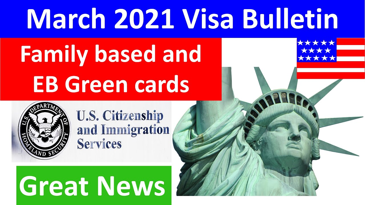 March 2021 Visa Bulletin, Family Based Green Card, EB1, EB2, EB3 green card great progress