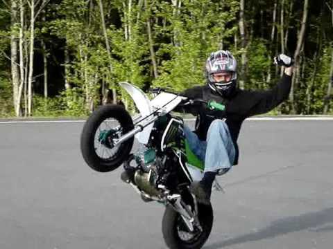 monster energy kawasaki klx110 stunts wheelies wheelie - youtube