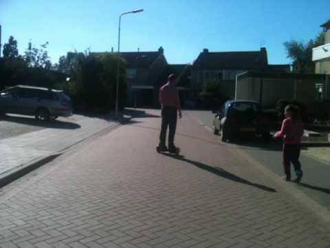 Hoverboarding Nigel in Vlissingen Holland