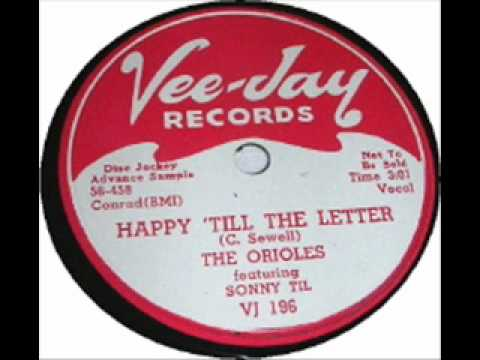 "The Orioles ""Happy 'Till The Letter"" 1956 Vee-Jay 196"