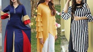 Latest & Beautiful Ruffle bell sleeves || Full frill sleeves kurti Designs With Stylish Dresses 2019