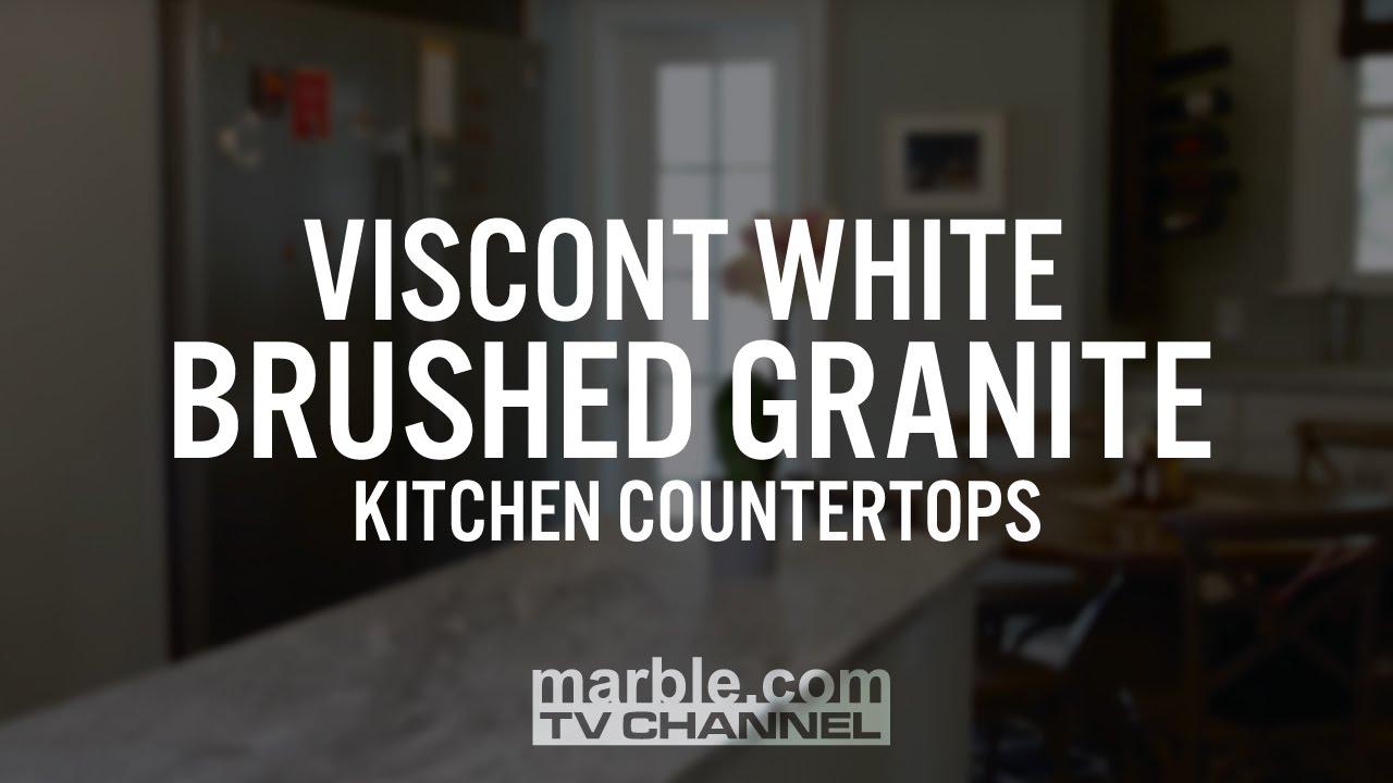 Viscont White Brushed Granite Kitchen Countertops Youtube