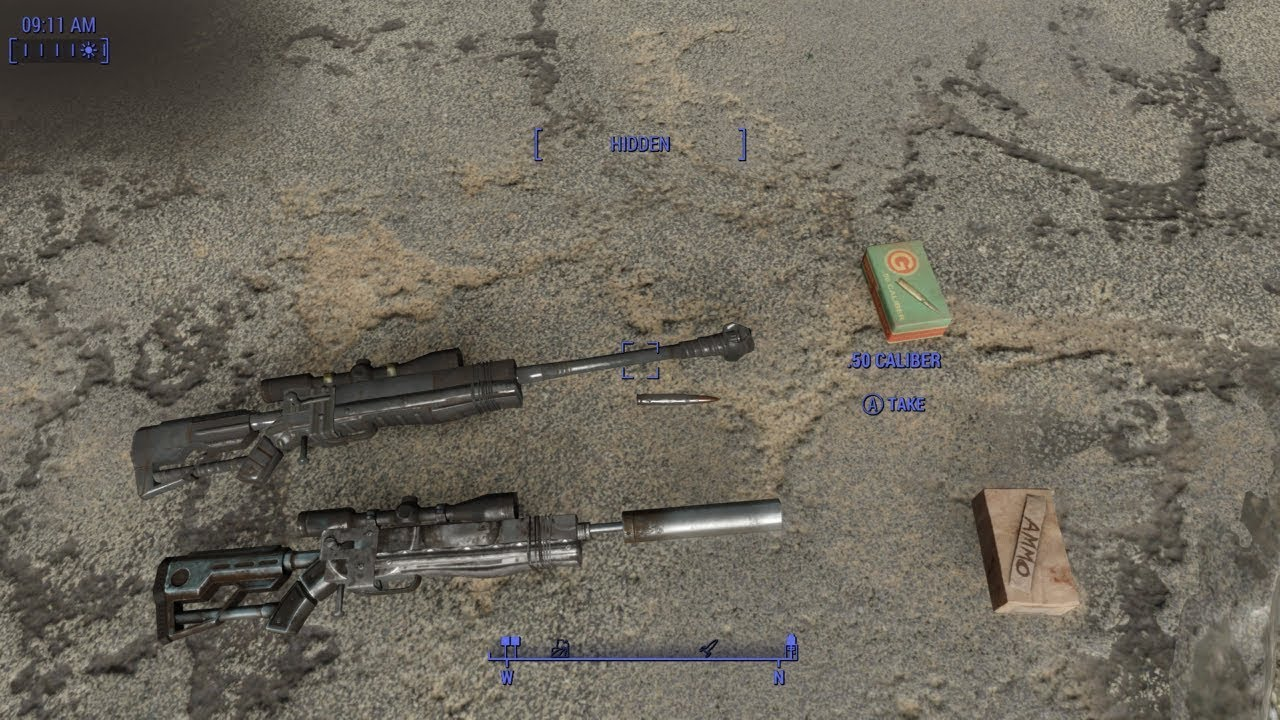 Fallout 4 SkillzWP PGM Hecate ll Sniper Rifle Display