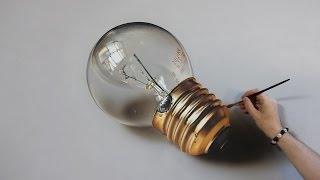 Light Bulb | Oil Painting on canvas - 3D Art