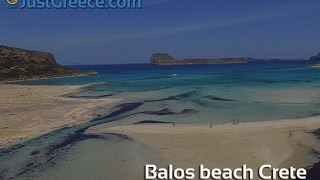 Aerial video of Balos Beach on Crete - JustGreece.com(Drone aerial video of Balos beach (Crete island). Balos beach is one of the most beautiful beaches in Europe. Watch here the amazing scenes recorded by ..., 2016-05-14T19:37:54.000Z)
