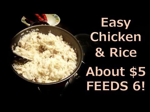 EASY Chicken & Rice Recipe – $5 Feeds 6!!