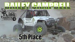 BAILEY CAMPBELL King of the Hammers 2016 - 5th