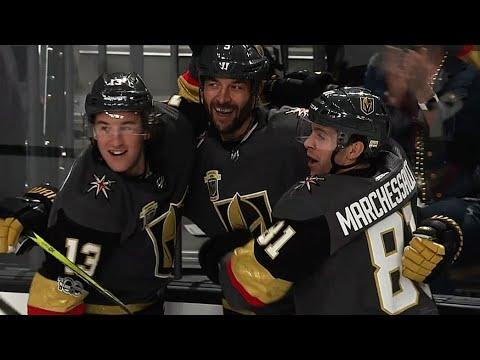 Golden Knights' Engelland delivers emotional speech, clapper from point
