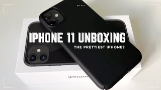iPhone 11 (black) UNBOXING + accessories | upgrade from iPhone 8