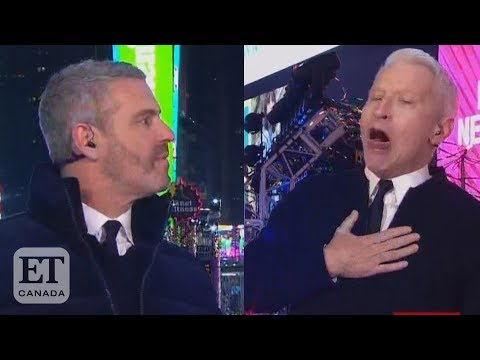 CNN anchors Anderson Cooper and Andy Cohen take shots on air ...