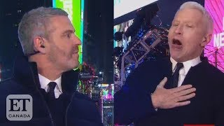 Anderson Cooper Does Tequila Shot On NYE