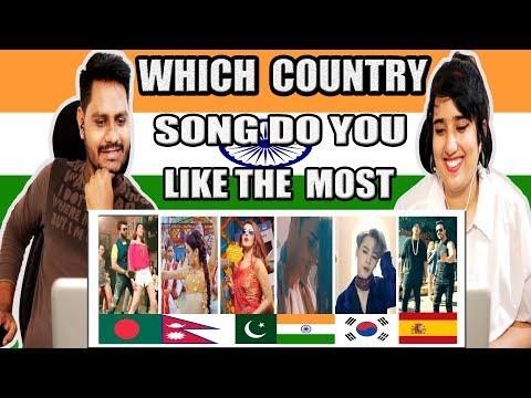 Indian Reacts On Bangladeshi, Pakistani, Nepali, Korean, Spain 2018 Trending Songs    Krishna Views