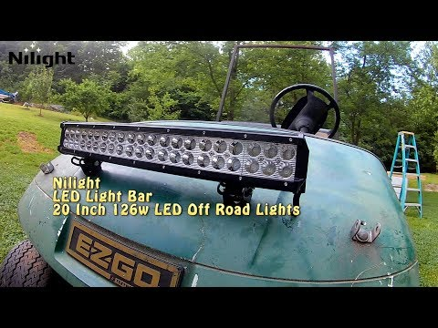 E-Z-Go Nilight 20 Inch 126w light-bar Installation