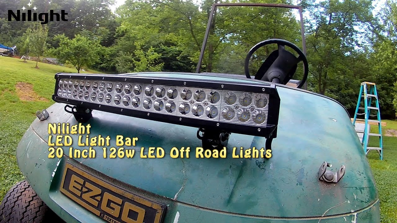E Z Go Nilight 20 Inch 126w Light Bar Installation Youtube Wiring Diagram For Led
