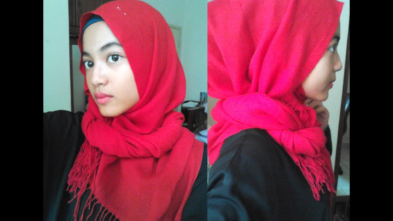 Wide Amp Long Pashmina Tutorial Jenis Panjang Amp Lebar YouTube