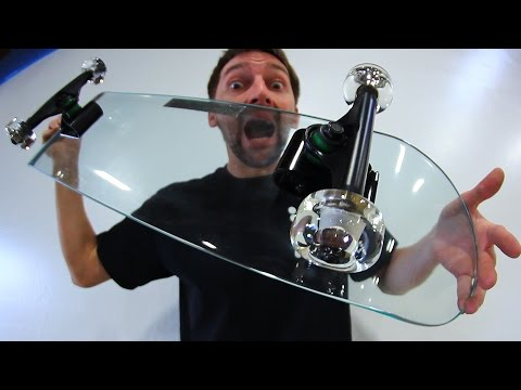KICKFLIPPING A GLASS SKATEBOARD WITH GLASS WHEELS?! | YOU MA
