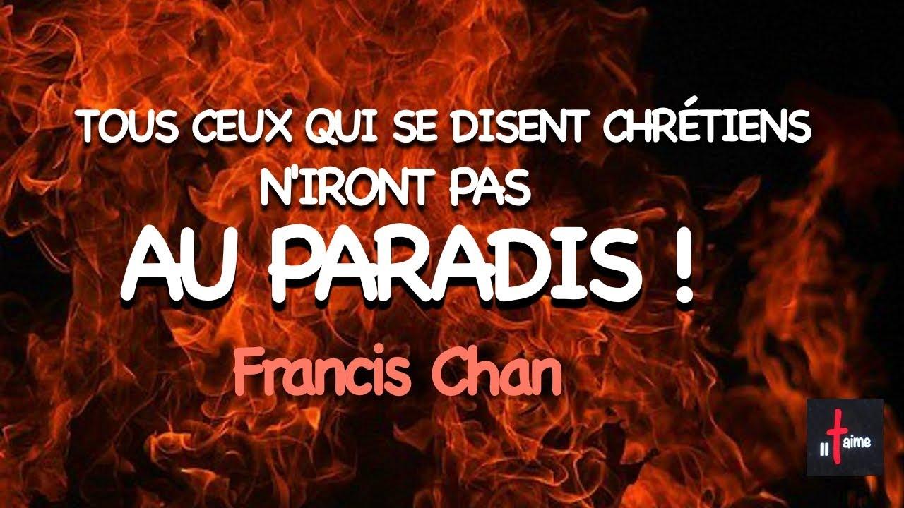 TOUS LES CHRÉTIENS N'IRONT PAS AU PARADIS !