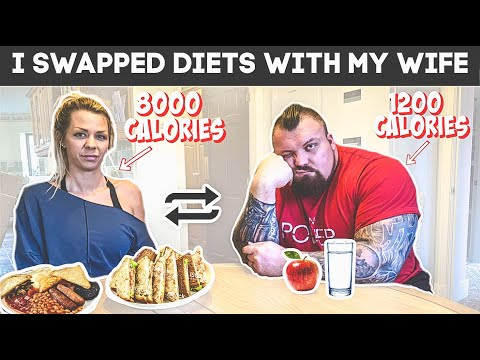 Strongman swaps diet with wife for a day | Ft Eddie Hall