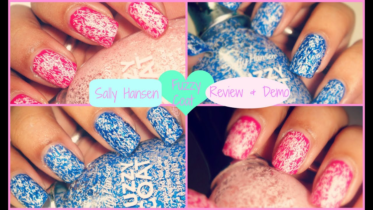Sally Hansen Fuzzy Coat Nail Polish- Review & Demo! - YouTube