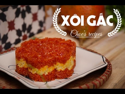 Cách làm món Xôi gấc | How to make steamed momordica glutinous rice | Ngon Plus