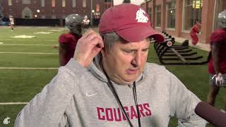Mike Leach after practice Oct. 16