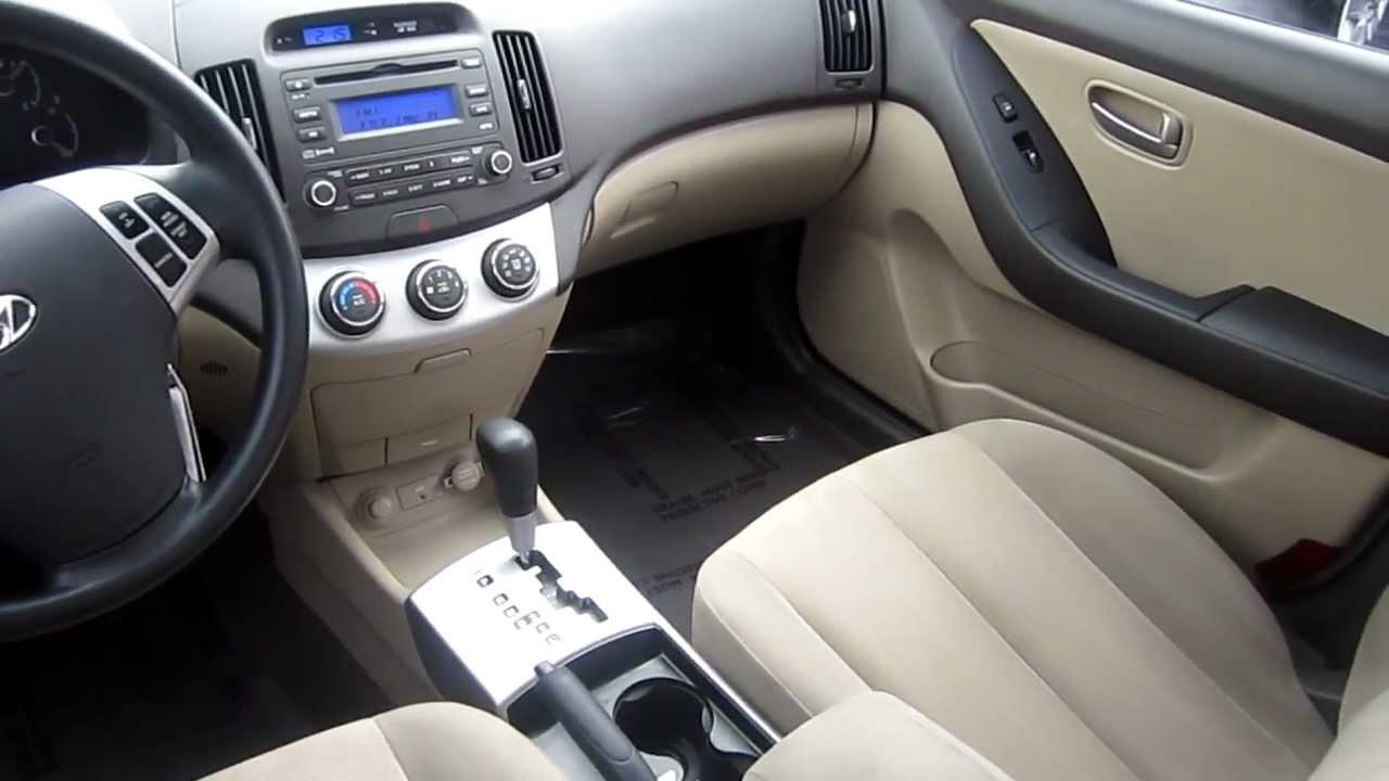 2008 Hyundai Elantra GL, Black   Stock# 2008 Hyundai Elantra GL   Interior