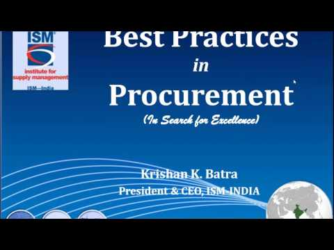 Best Practices in Procurement