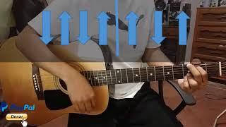 Mi Dios es real tutorial con guitarra acustica
