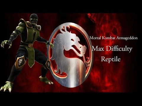 Mortal Kombat Armageddon - Reptile - Max Difficulty (Commentary)