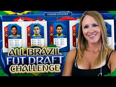 BEST POSSIBLE ALL BRAZIL WORLD CUP FUT DRAFT CHALLENGE! FIFA 18