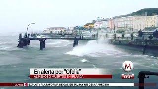 Irlanda y Reino Unido, en alerta por tormenta 'Ofelia'