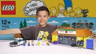 The KWIK-E-MART - LEGO SIMPSONS Set 71016 - Time-lapse Build, Unboxing & Review!