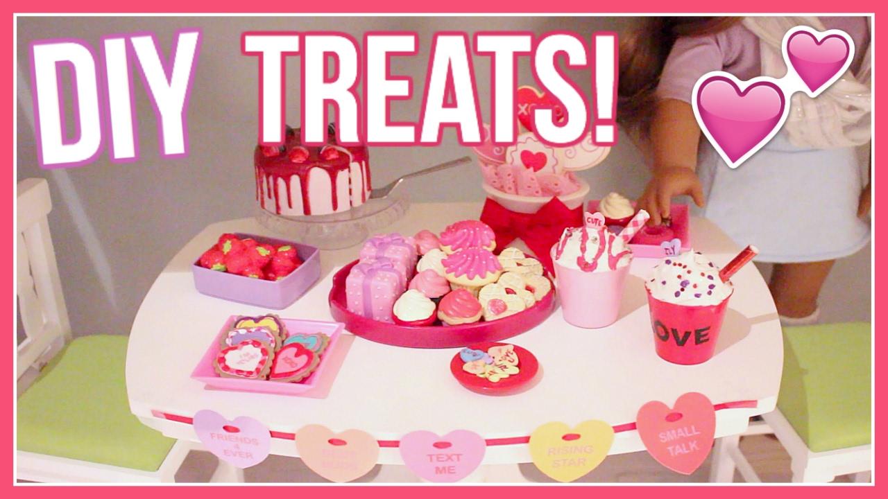 diy valentine s day treats american girl doll valentine s day diy