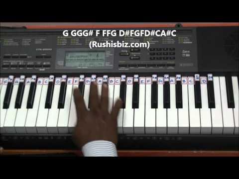 Sarvam Theme BGM Piano Tutorials