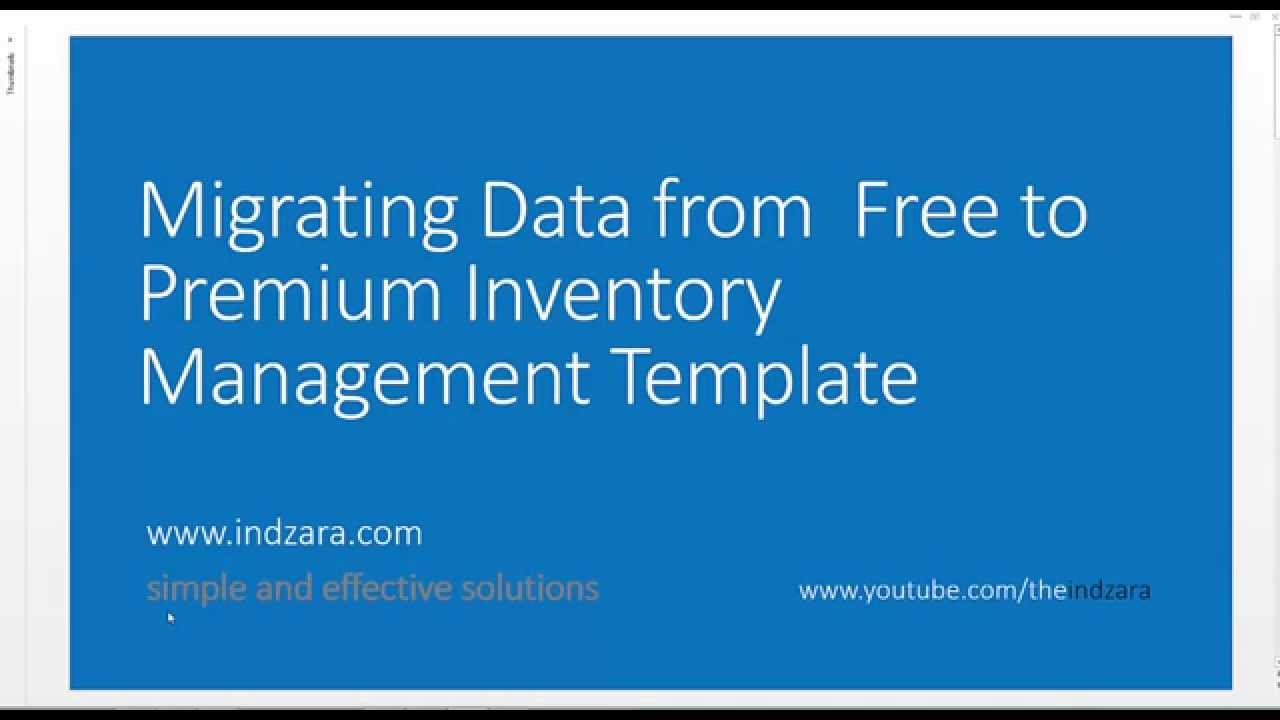 inventory management excel template migrating data youtube