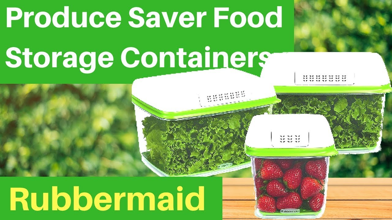 Rubbermaid Freshworks Produce Saver Food Storage Containers YouTube