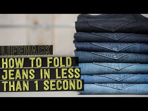 How to Fold Jeans in LESS Than 1 Second!